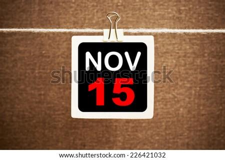 November 15 Calendar - stock photo