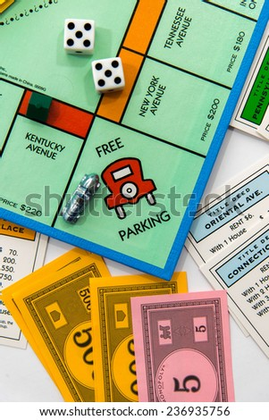 November 14, 2014 - Houston, TX, USA : Monopoly board game - stock photo