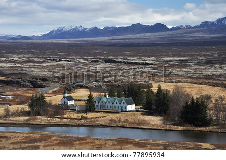 NP Thingvellir, the oldest parliament in the world, Iceland - stock photo