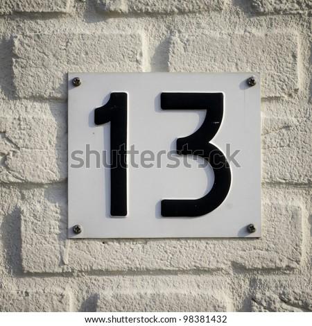 Nr. 13 - stock photo