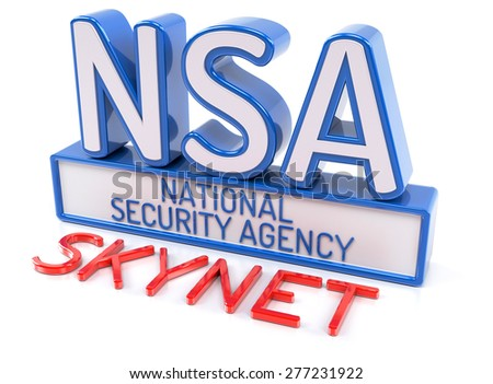 NSA SKYNET - National Security Agency - stock photo