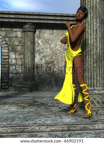 Nubian princess - stock photo
