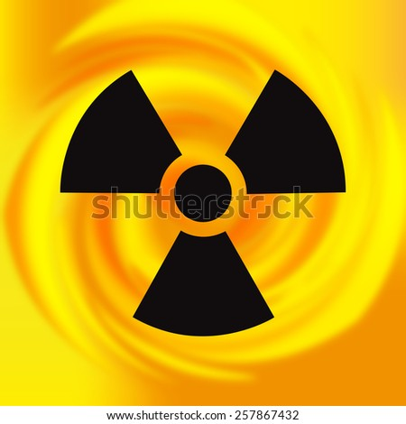 Nuclear background - stock photo