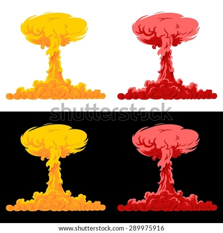 Nuclear explosion (raster version) - stock photo