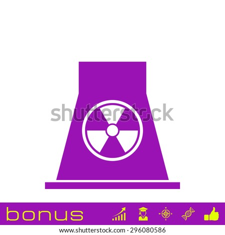 nuclear Power Plant icon - stock photo