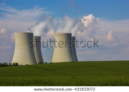 Nuclear power plant Temelin, Czech Republic. - stock photo