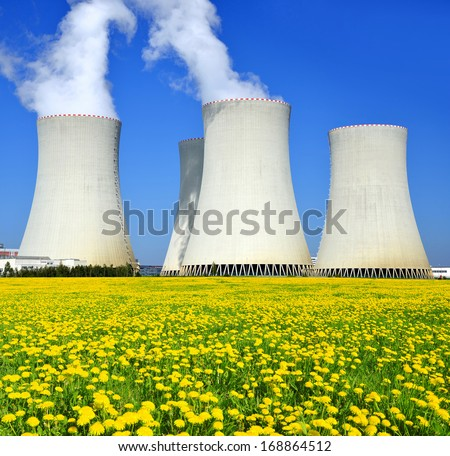 Nuclear power plant Temelin in Czech Republic  - stock photo