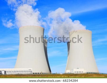 Nuclear power plant Temelin in Czech Republic, Europe. - stock photo