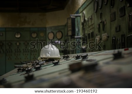 Nuclear reactor in a science institute indoors - stock photo