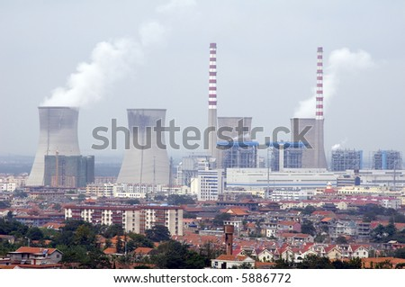 Nuclear reactor in Lianyungang, China - stock photo