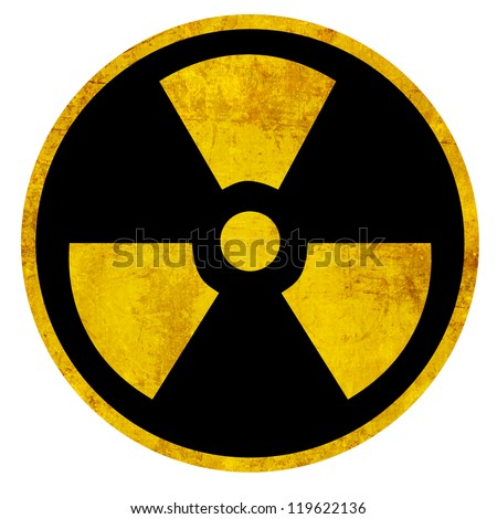 Nuclear sign representing the danger of radiation - stock photo