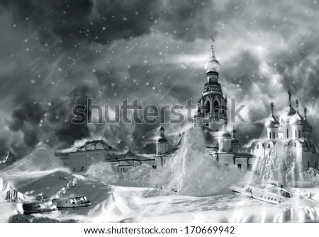nuclear winter - stock photo