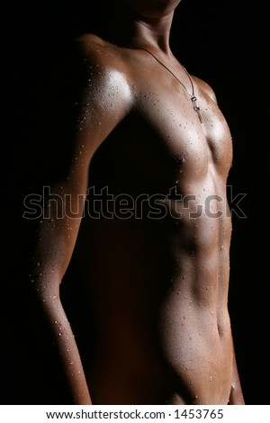 Nude Male Body G1 - stock photo
