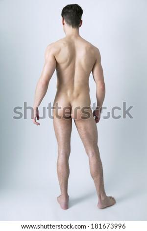 Nude Man - stock photo