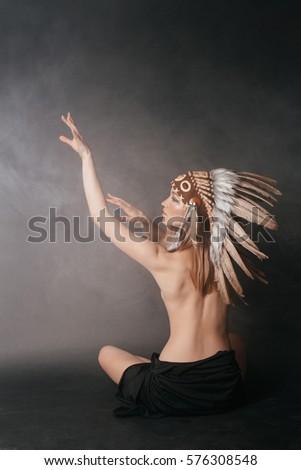 Nude long hair american indian women — img 9