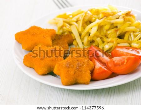 Nuggets with potato - stock photo