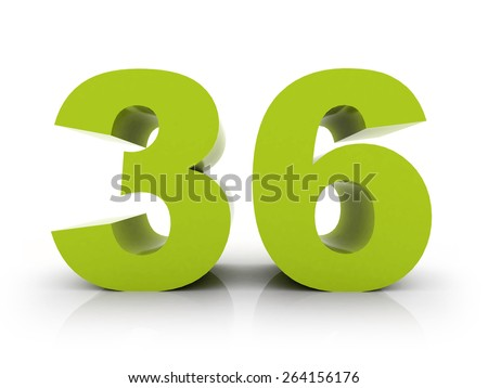 number 36 - stock photo