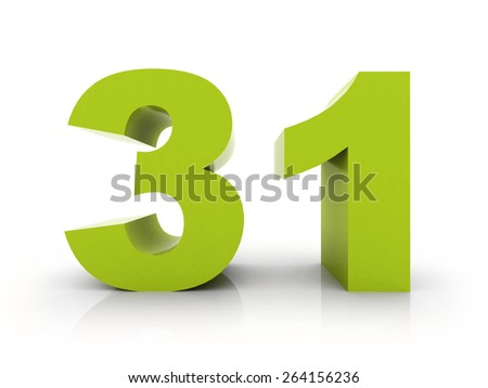 number 31 - stock photo