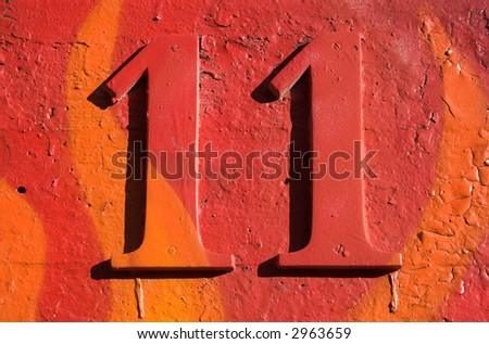 Number 11 - stock photo