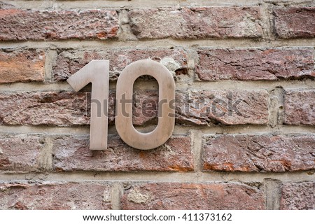 Number 10 - stock photo