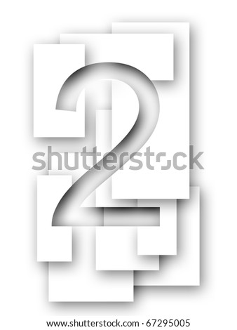 Number 2 - stock photo