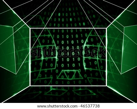 number abstract background - stock photo