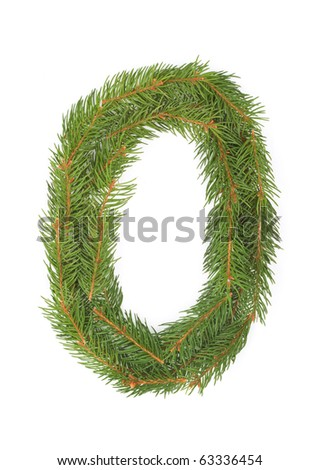 NUMBER 0 - Christmas tree decoration - part of a full set - stock photo