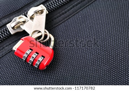 Number combination padlock - stock photo
