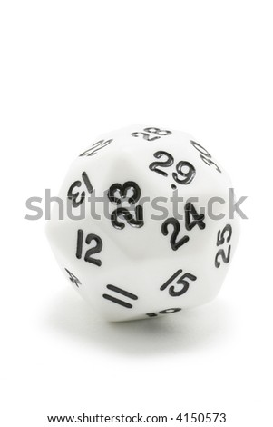Number Dice on White Background
