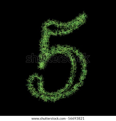 Number five from plants - stock photo