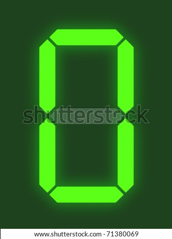 Number 0 from digital display series - stock photo