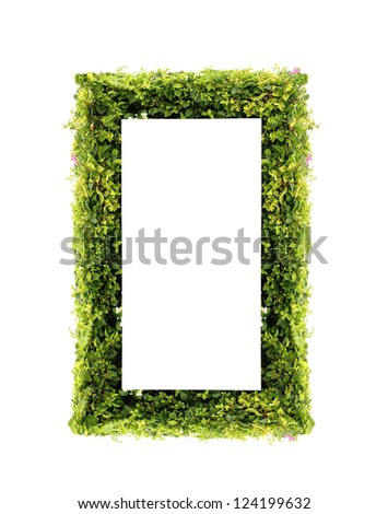 Number 0 green leaves on white background - stock photo