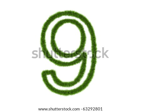 Number green of the grass