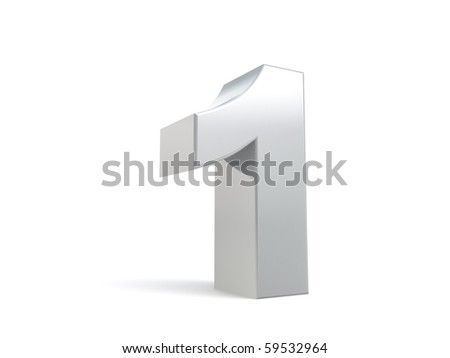 number 1 in metal - stock photo