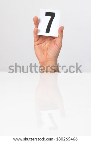 number of points in the hands of the evaluation - stock photo