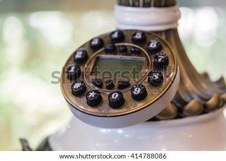 number on a  phone,selective focus  - stock photo