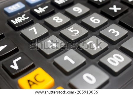Number on Calculator - stock photo