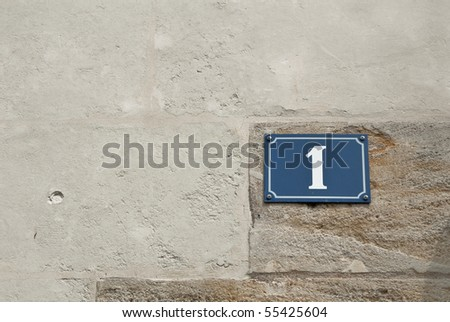number one - stock photo