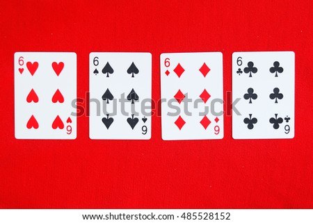 number 6 poker card