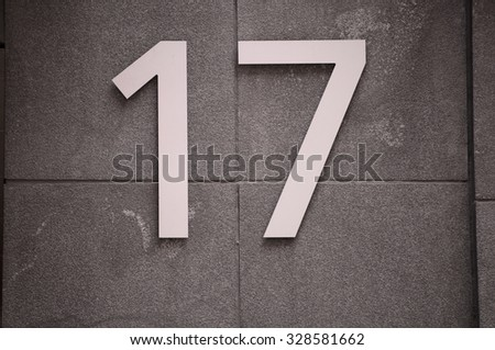 Number 17 seventeen - stock photo