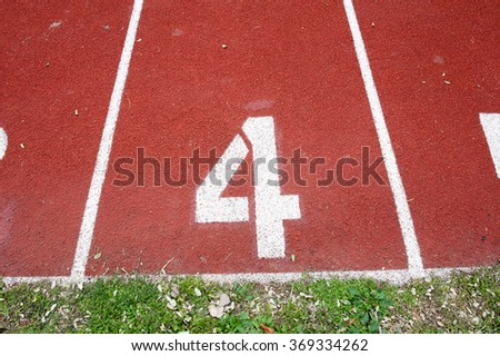 Number two on the start of a running track - check my portfolio for other numbers