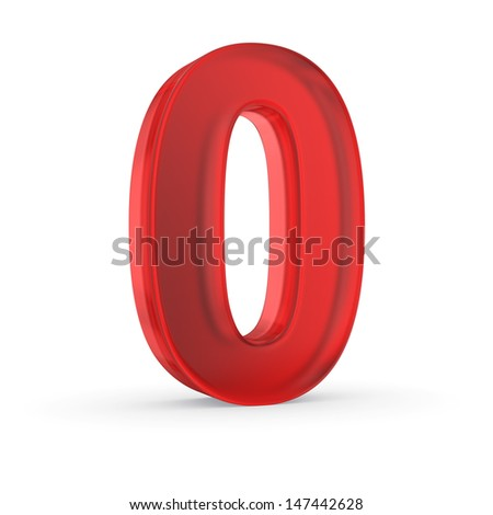 Number Zero Red Isolated Clipping Path Stock Illustration 147442628