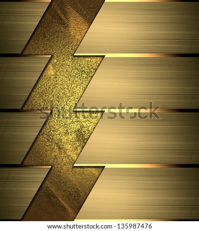 numbered banners in gold colors. Creative design template - stock photo
