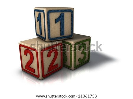 Numbered Building Blocks Icon
