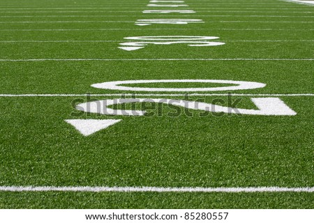 Numbered Yard Lines of an American Football Field
