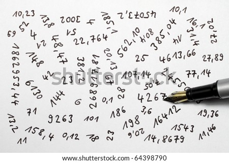 Numbers are an important part of our lives. - stock photo