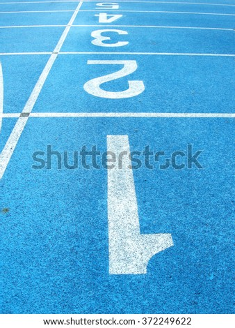 numbers in the track