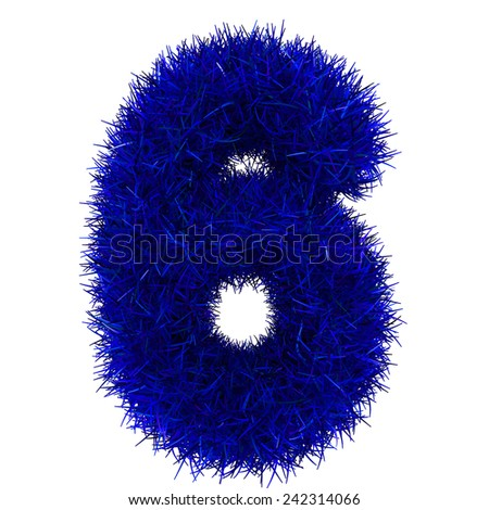 numbers of blue grass concept. isolated on white.  - stock photo