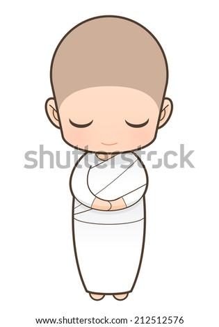 Nuns cartoon - stock photo