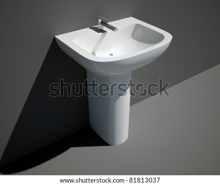 nuova sink three-quarters - stock photo